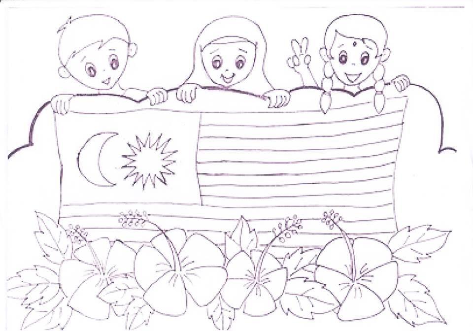 gambar raya untuk mewarna hebat panitia psv dsv sk parit kasan kertas mewarna kemerdekaan 2