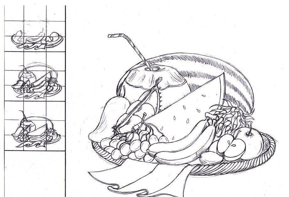 kertas mewarna nombor terbaik pendidikan seni visual catan cat air teknik mewarna buah buahan