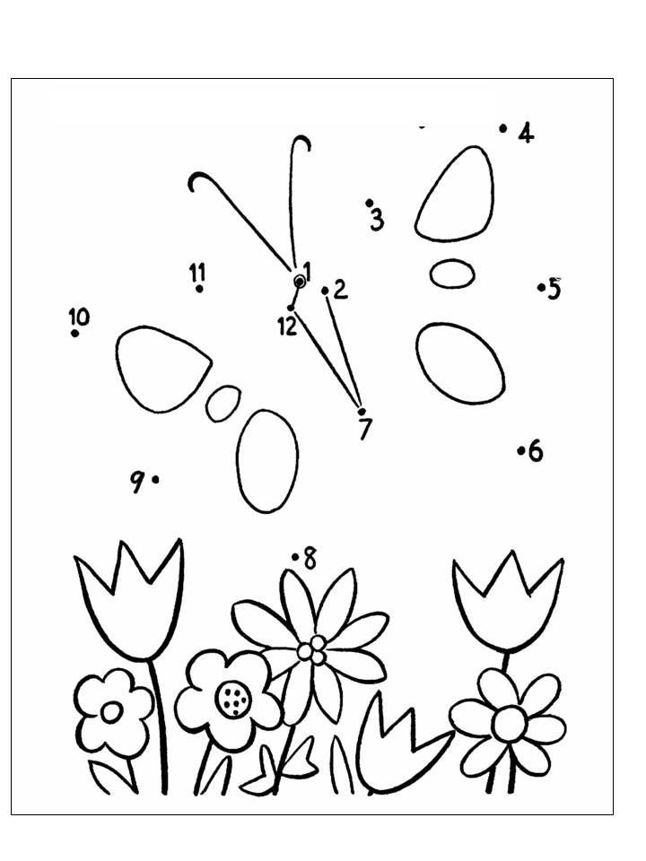 poster rama rama untuk mewarna terhebat aktiviti menyambung titik titik nombor menjadi gambar bunga