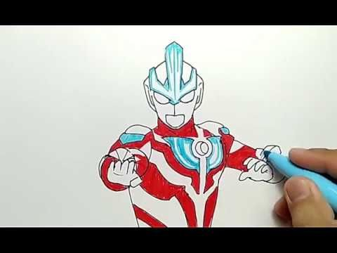 hebat banget cara menggambar ultraman ginga dengan mudah how to draw ultraman