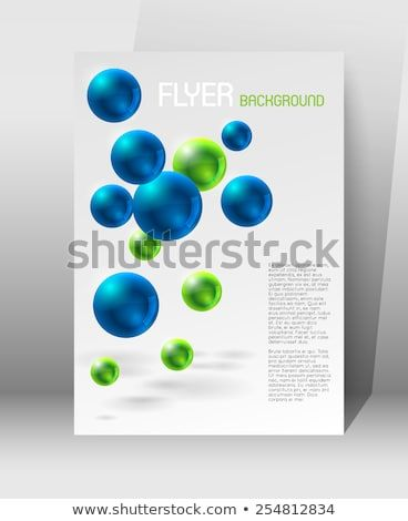 abstract modern poster template blue green stock vector royalty