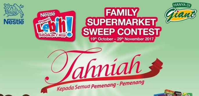 winners nestle giant family supermarket sweep contest