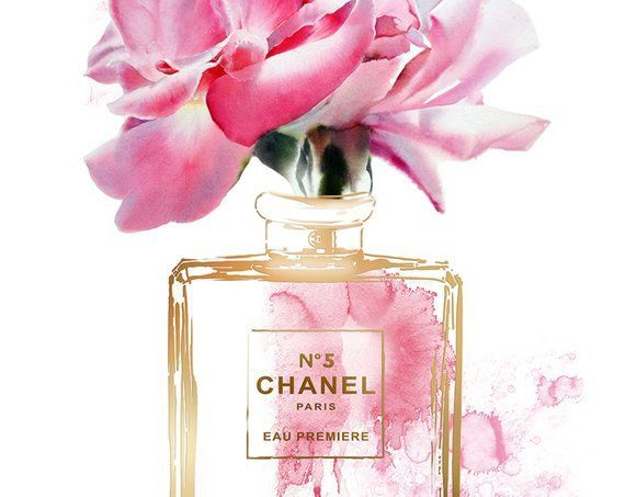 fashion prints inspired by coco chanel poster perfume bottle etsy