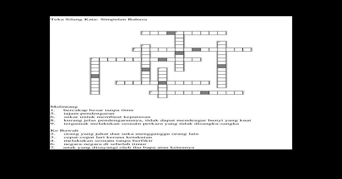 jawapan teka silang kata geografi yang sangat menarik a download image