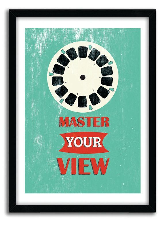 motivational poster retro art master your view quote print pop art poster inspirational posters kids room art a4 poster