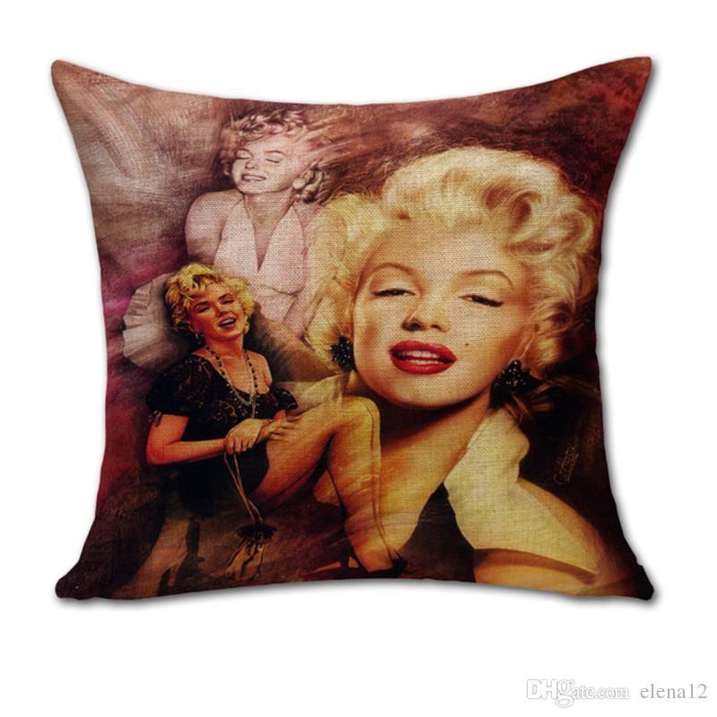 monroe pillow cover creative cartoon pop art retro poster marilyn monroe throw pillow case pillowcase