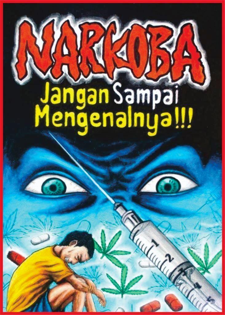 contoh menggambar poster anti narkoba