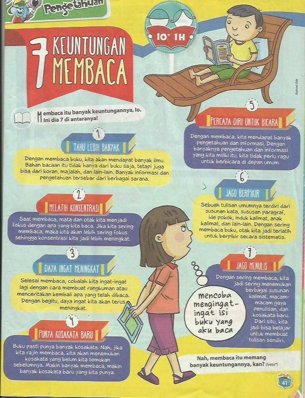 7 keuntungan membaca dari mjlh bobo