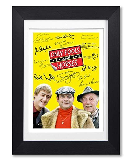 only fools and horses cast signed autograph a4 poster photo print photograph artwork wall art picture