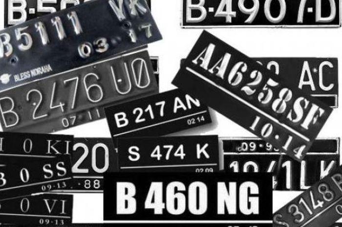 ilustrasi plat nomor kendaraan