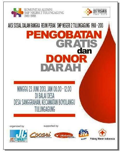 poster pengobatan gratis dan donor darah