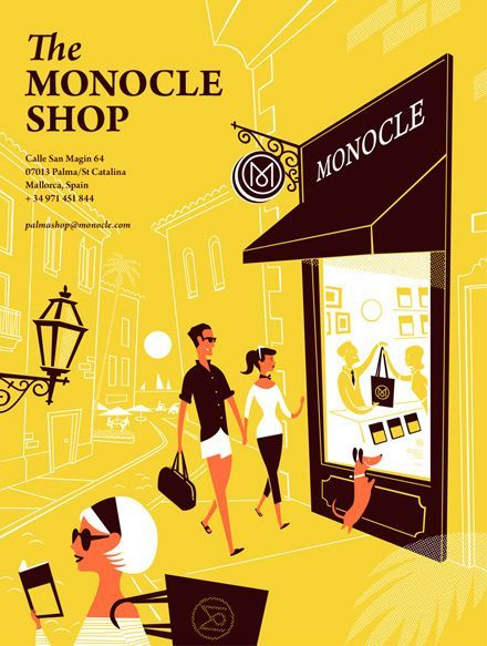 monocle shop special edition monocle magazine illustrations posters flat illustration character