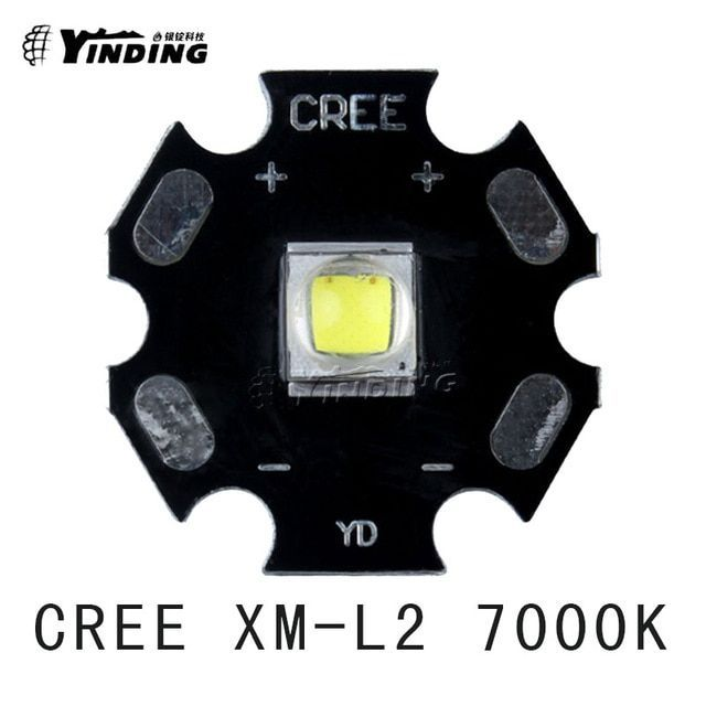 5pcs cree xlamp xm l2 t6 u2 u3 cold white 0d 7000k 10w high power led