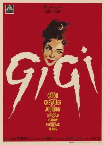 gigi 1958 film movie french vintage poster reprint ebay