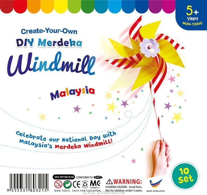 poster hari kemerdekaan malaysia bermanfaat malaysia merdeka windmill pack of 10