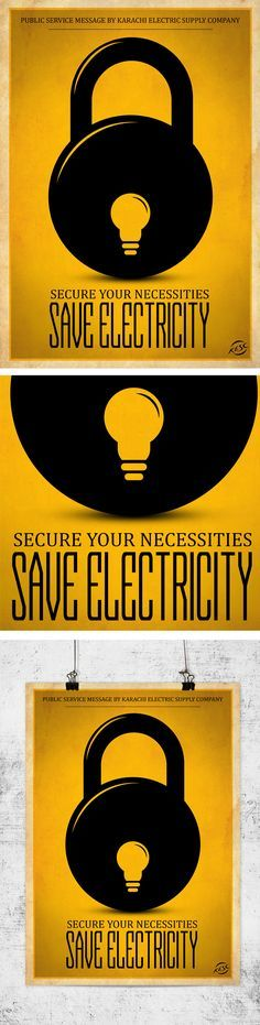 save electricity poster