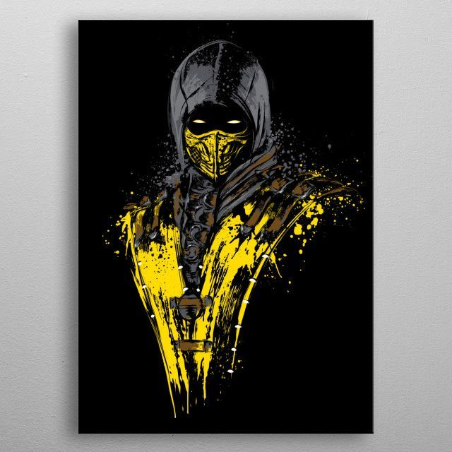 mortal combat poster making shirt shop scorpion cool t shirts videogames