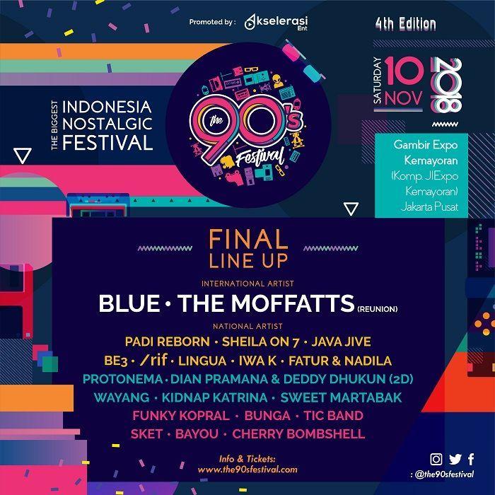 the 90 s festival 2018 hadirkan kenangan komplit di era 1990 an blue dan the moffatts reunion siap menghibur penggemar grid id