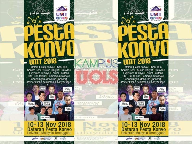 universiti malaysia terengganu umt akan mengadakan pesta konvo umt 2018 bermula pada 09 sehingga 13 november 2018 jumaat selasa bertempat di dataran