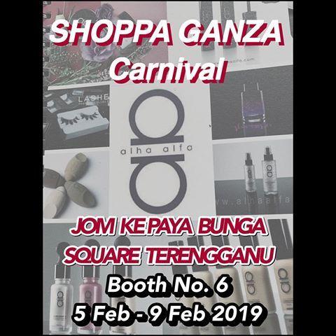 popup booth kami berada di shoppa ganza carvinal paya bunga square terengganu sehingga 9 feb 2019