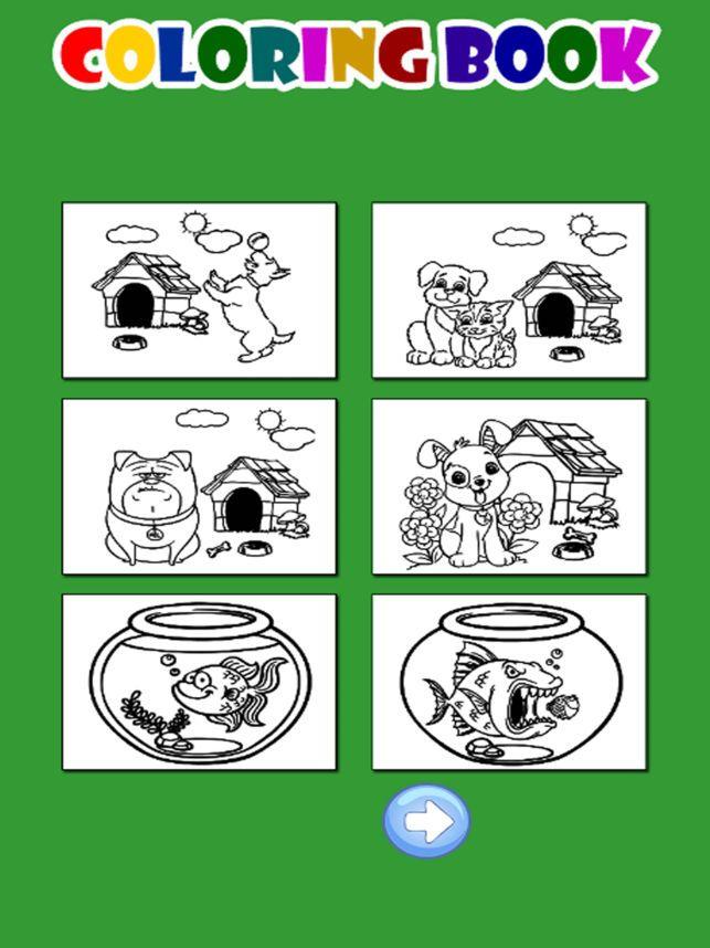 buku mewarna haiwan anjing permainan kucing untuk di app store