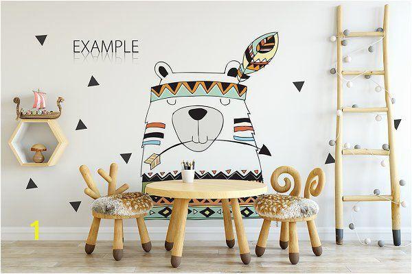 wall mural mockup kids wall frames mockup bundle 2 product mockups