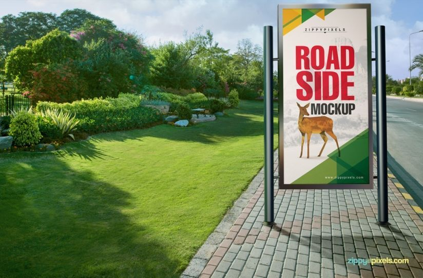 spectacular bus stop mockups and roadside poster mockups