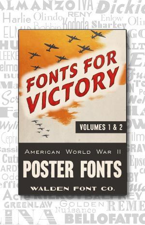 cover art for the complete american poster fonts of world war ii font set