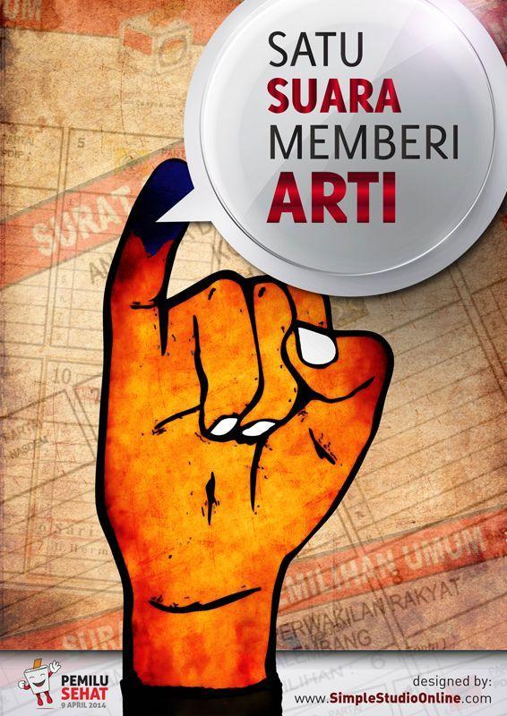 simple studio online desain pameran poster pemilu sehat 31