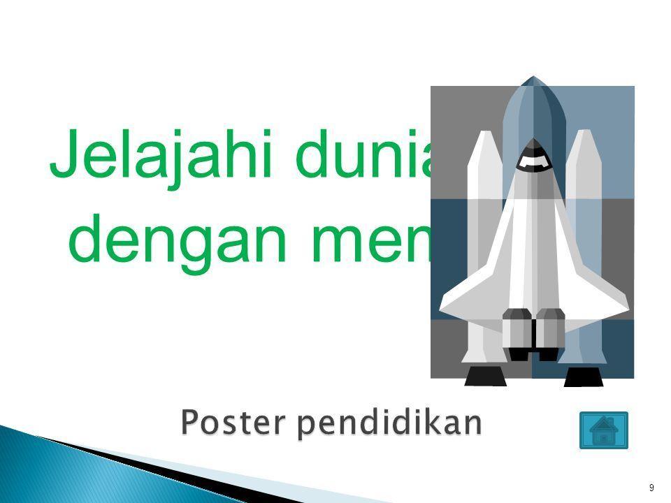9 jelajahi dunia dengan membaca poster pendidikan