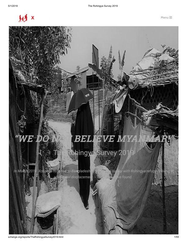 the rohingya survey 2019 bangladesh reliefweb