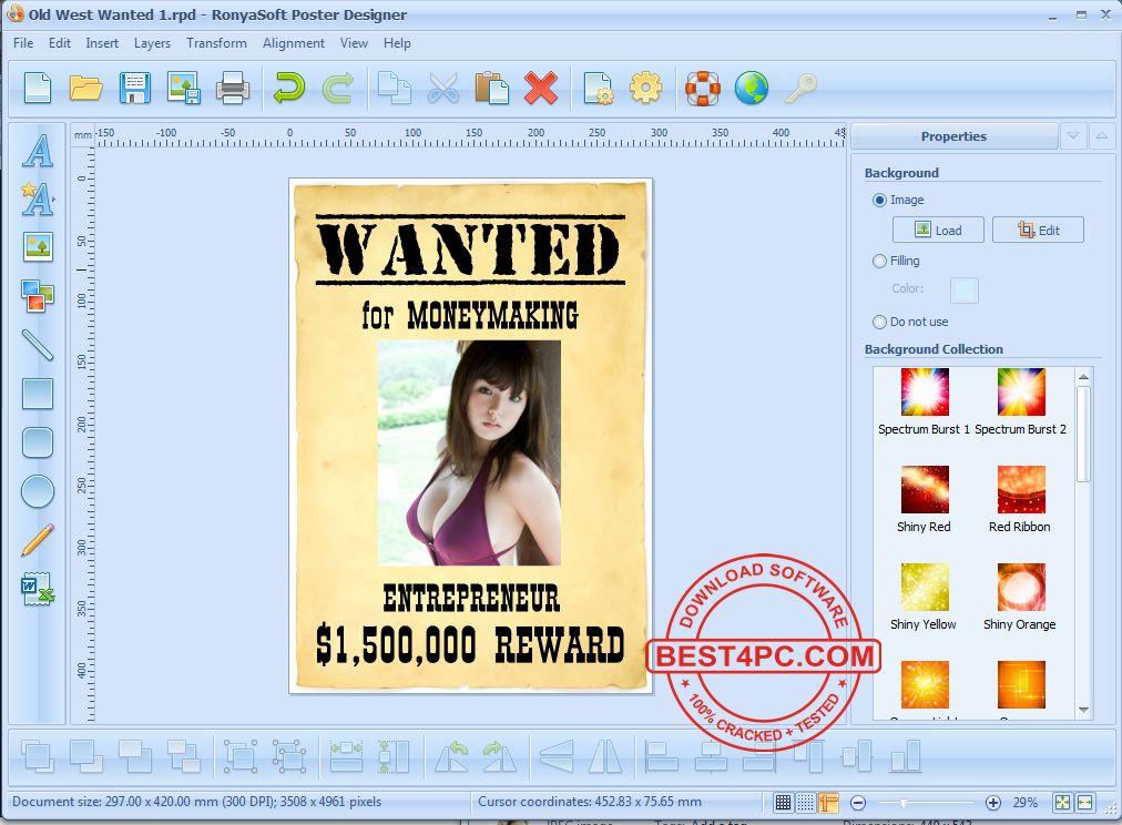 ronyasoft poster designer 2 3 8 full serial key
