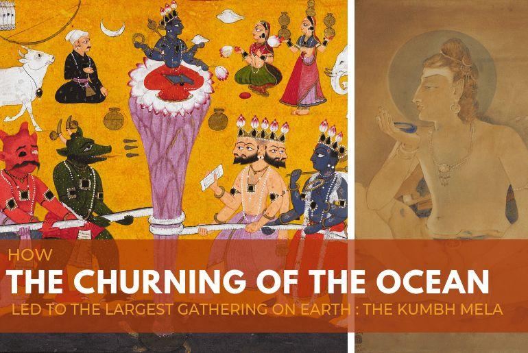 in paintings how the churning of the ocean led to the largest gathering on earth the kumbh mela
