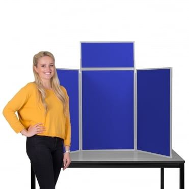 desktop display boards 3 panel maxi with plastic frame and carry case