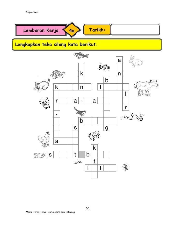 contoh teka silang kata alam sekitar penting modul pengajaran sains tahun 1 versi bahasa malaysia of