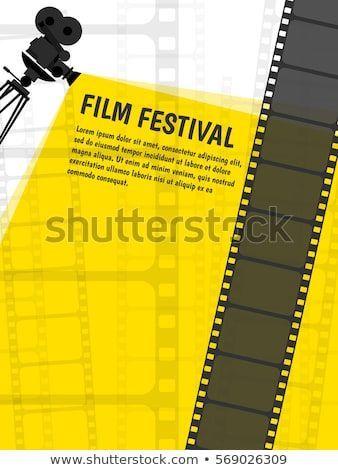 cinema festival poster or flyer template for your design vector illustration