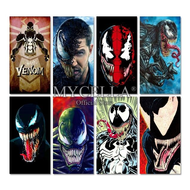 Venom Poster Power Spider Man Diy Diamond Embroidery Venom Cartoon Diamond Mosaic 5d