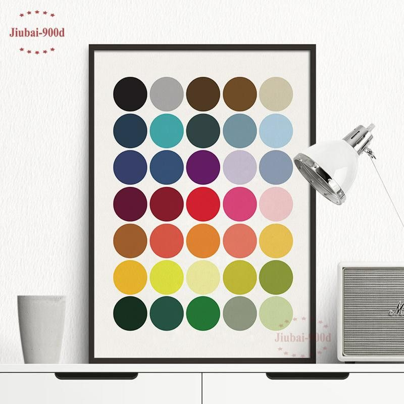 colorful wall decor best of ome decor painting calligraphy colorful dot canvas painting poster photos
