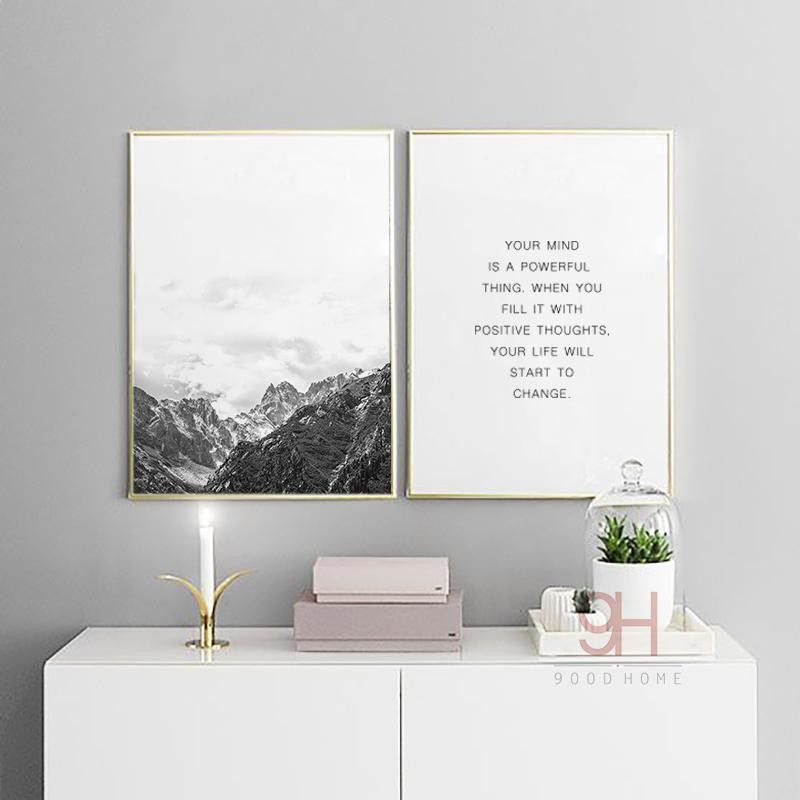 gray canvas wall art fresh 900d nordic style mountain canvas art print painting poster wall of